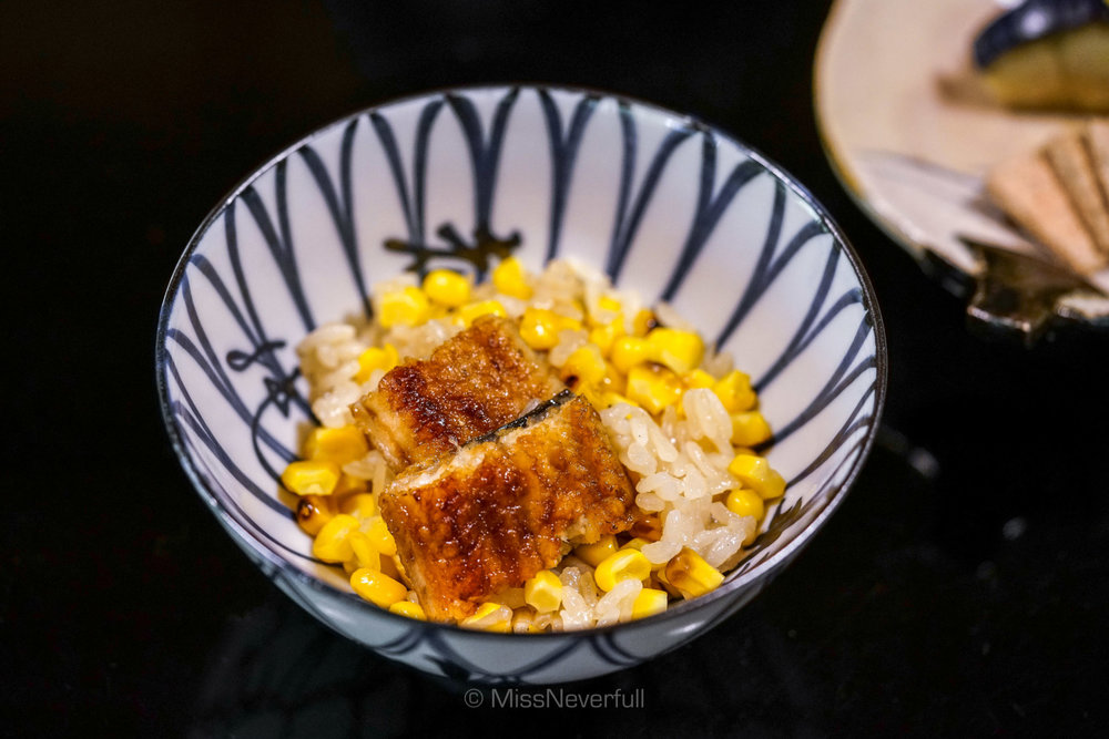 Corn rice with unagi
