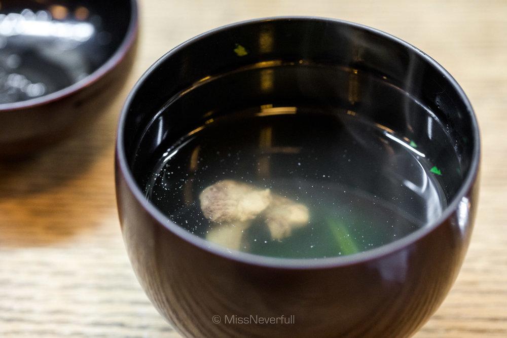 Eel liver soup