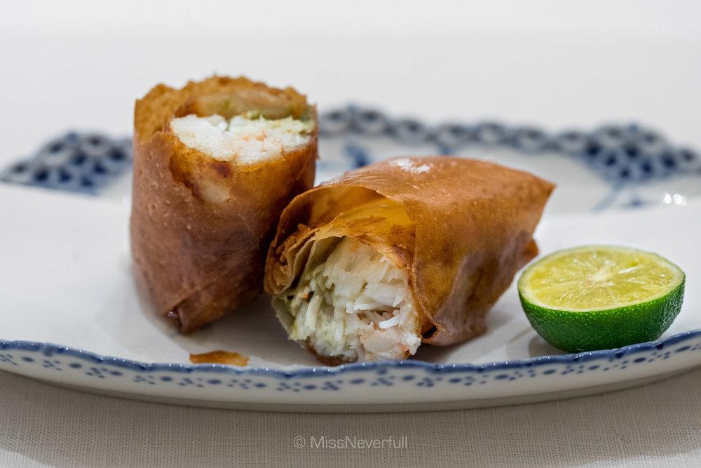 5. Etizen-gani (crab) spring roll (越前蟹の春巻き)