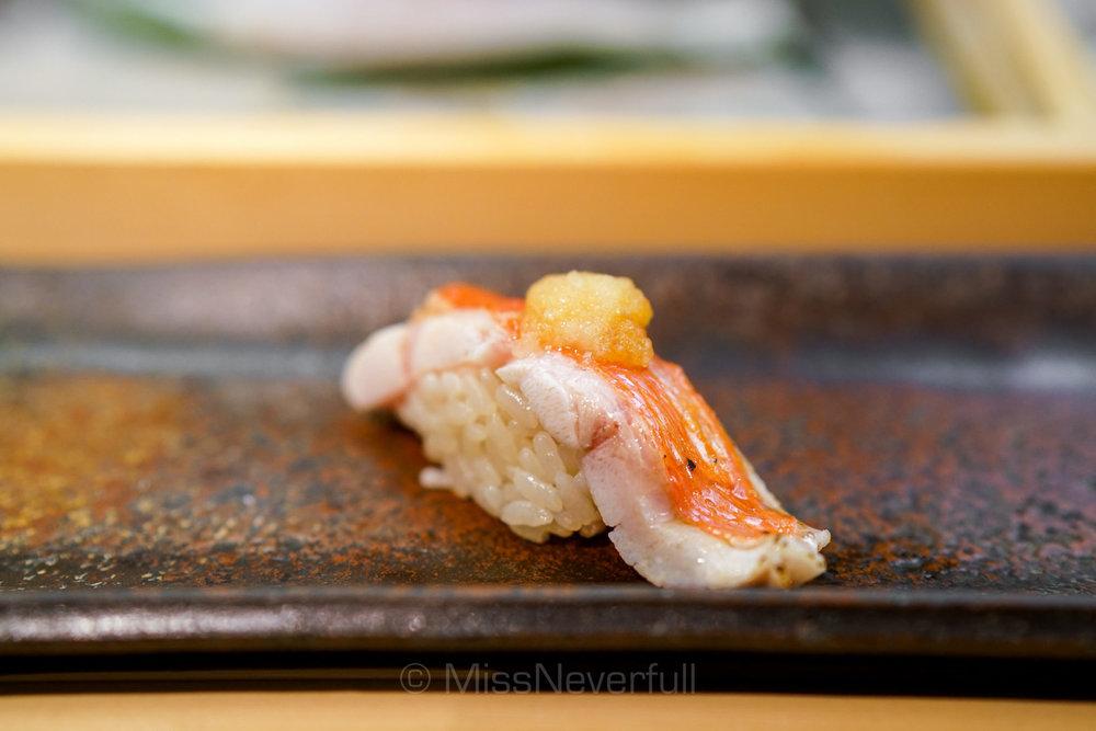 12. 金目鯛ハラミの炙り | Grilled Kinmedai