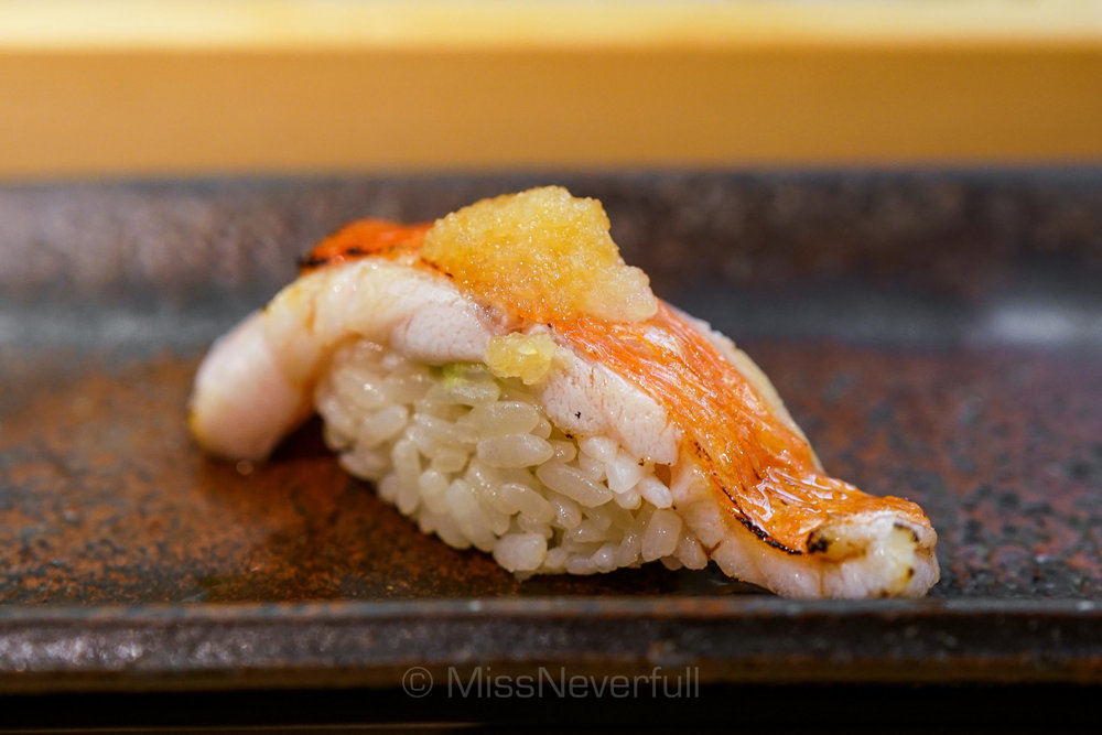 *21. 金目鯛ハラミの炙り(additional)