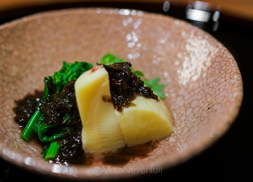 5.Bamboo shoots, broccoli rabe, rock laver
