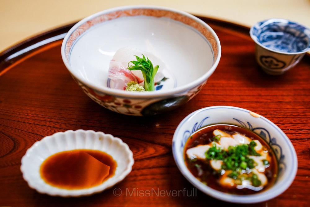 3. 淡路島の鯛のお造り 鯛の白子ポン酢 | Tai (snapper) Sashimi, Shirako Ponzu vinegar