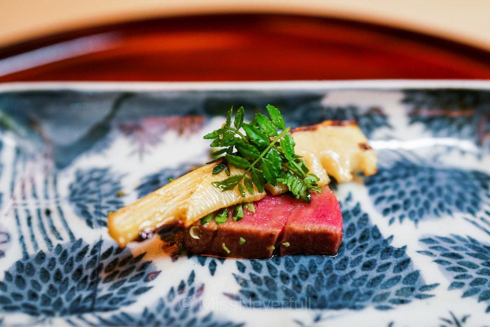 11. 近江牛のヒレ 筍 | Omi beef fillet, bamboo shoots