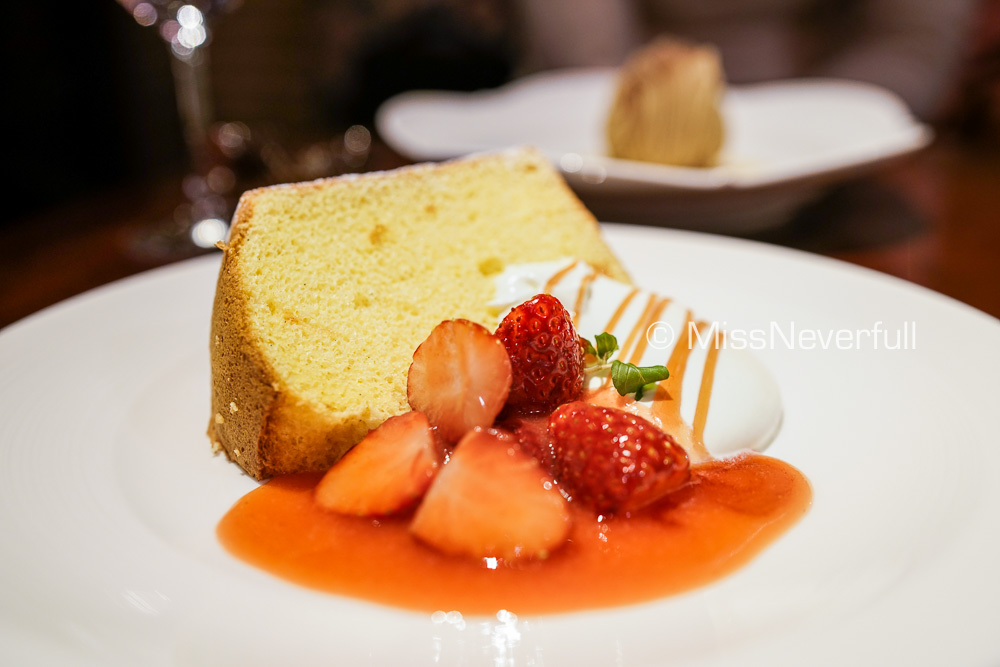 Dessert: Chiffon Cake with Strawberry