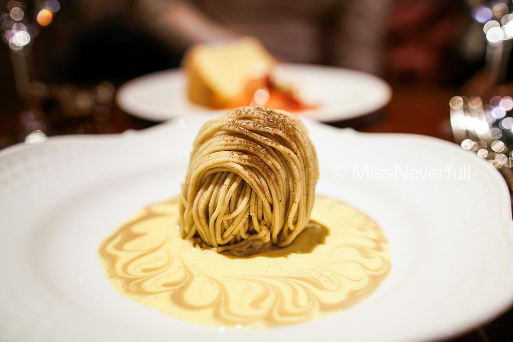 Dessert: Mont Blanc