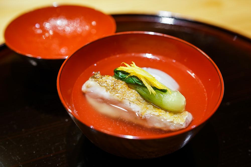 6. 焼き甘鯛のお椀 蕪 | Grilled Amadai soup