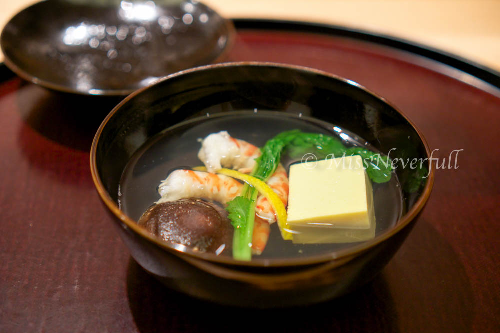 3. Owan: Egg tofu, shrimp and mushroom