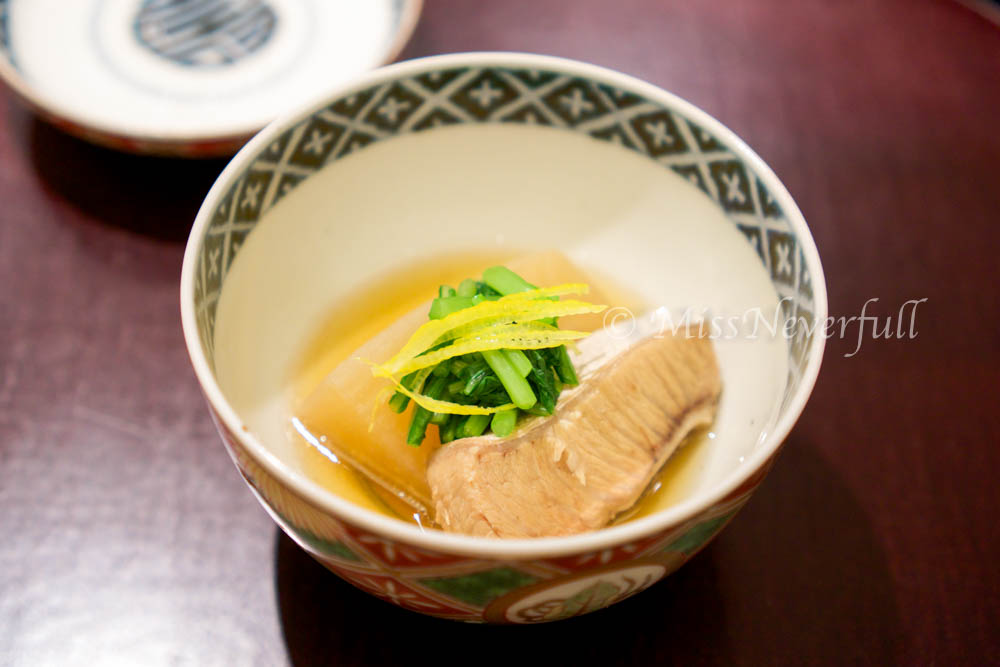 6. Simmered sawara and radish