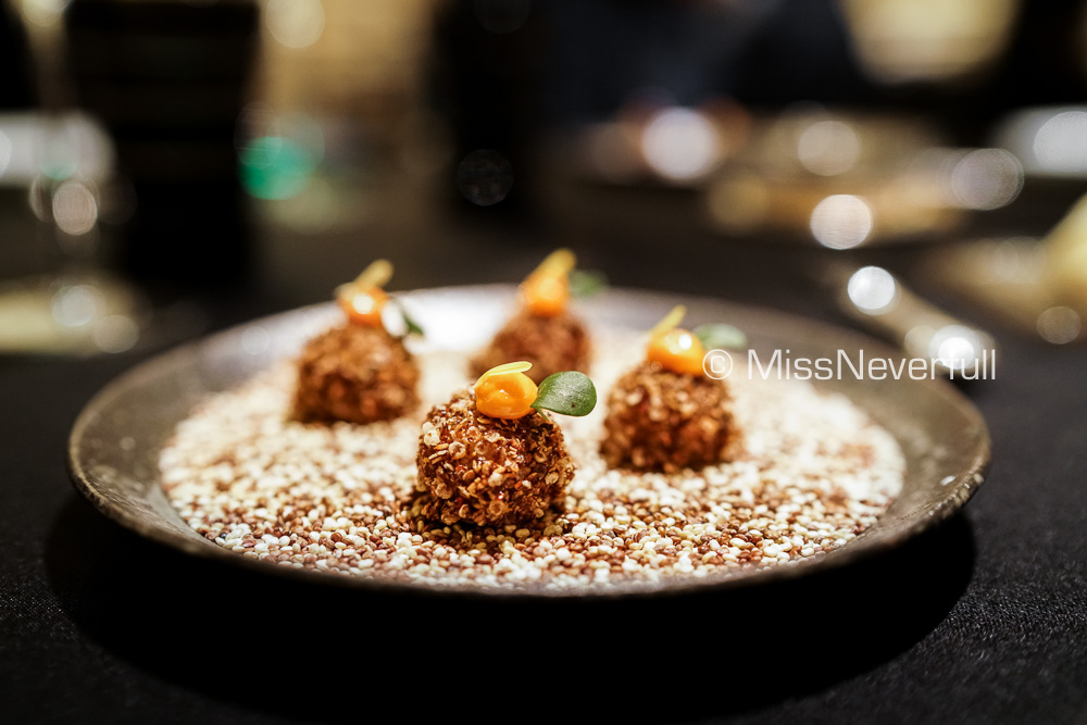 Amuse Bouche: Quinoa cookie