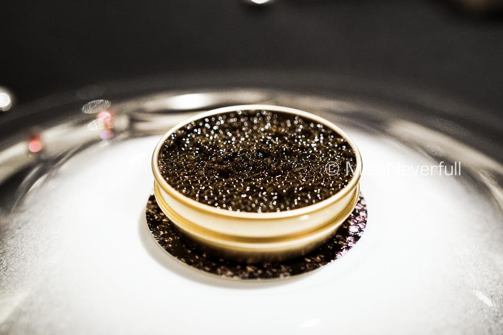 Caviar, Hokkaido crab, crustacean jelly, cauliflower cream