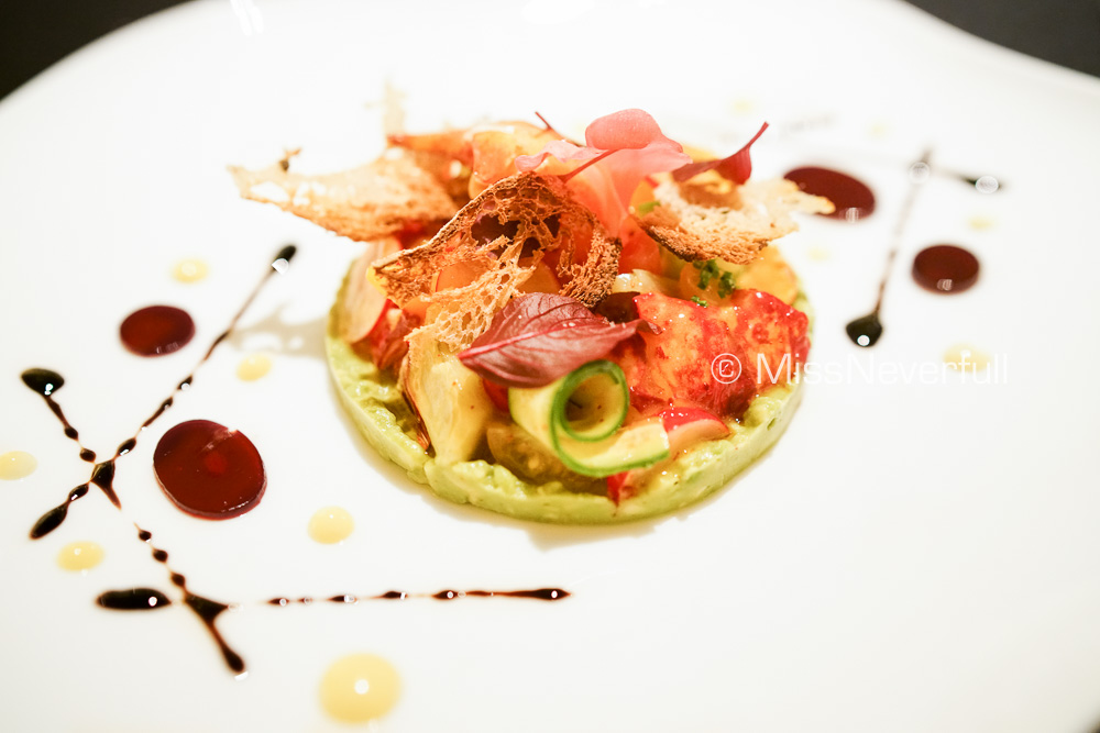 Lobster,  avocado guacamole,  pomegranate reduction (+3000 JPY)