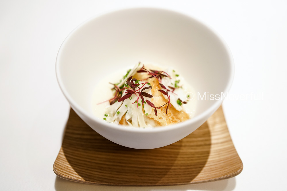 Seared Shirako, foie gras and cauliflower