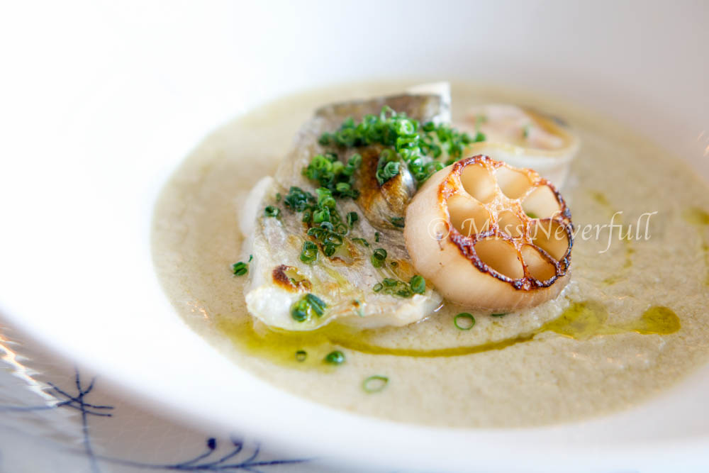 5. Baked sea bream, maitake mushroom suace, olive oil