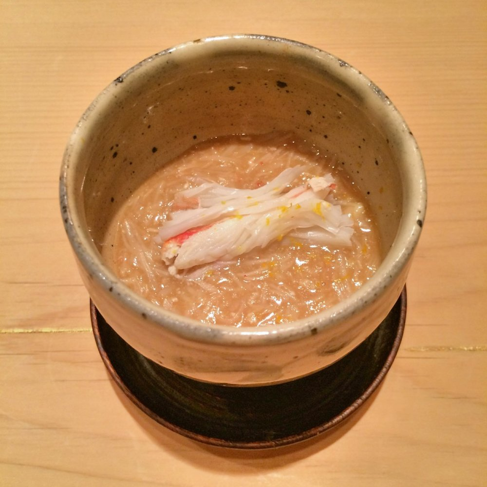 8.  Steamed eggs with  Kobako Crab