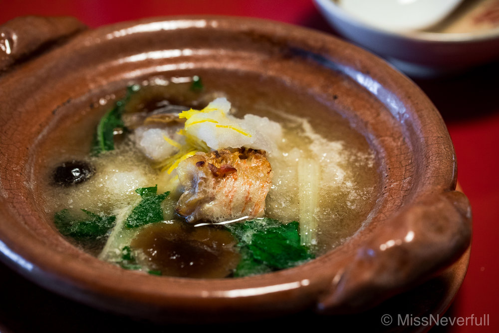 6. Tai soup with mountain vegetables