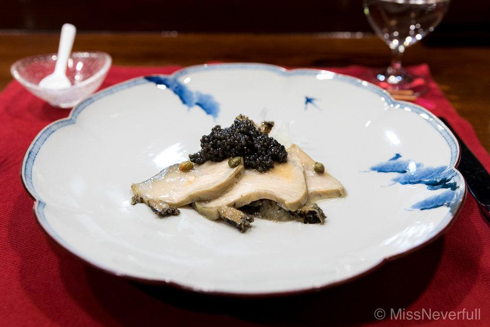 1. Abalone with Beluga Caviar