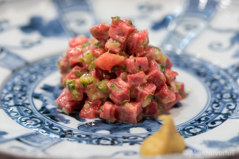 2. Beef Tartare, served with toast