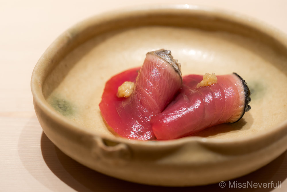 Ostumami 4: Smoked Katsuo - another highlight of the tsumami/seasonal treats