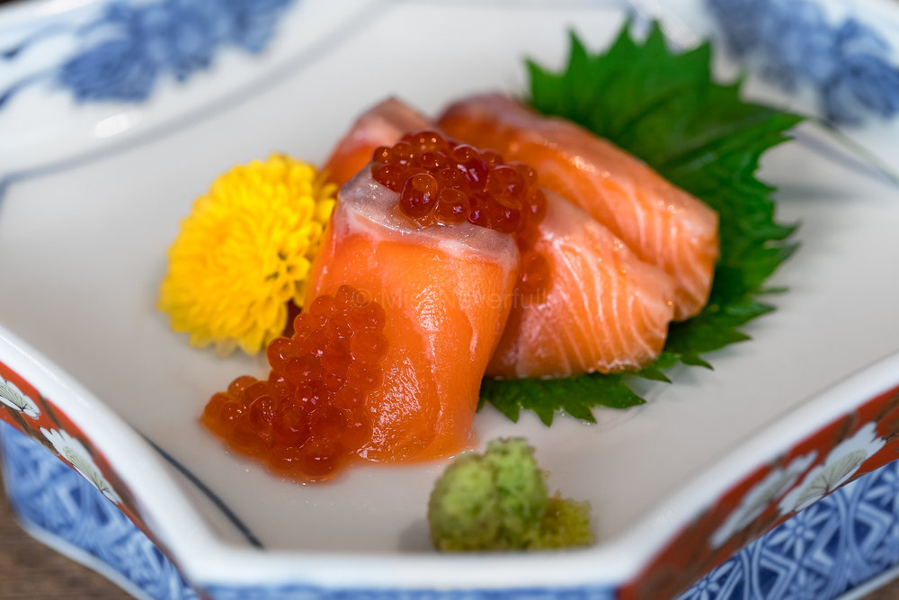 4. Sakura masu (cherry trout) and ikura (salmon roe)