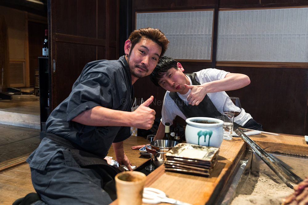 Yamada-san (Yanagiya) and Satoshi-san (CHIUnE)