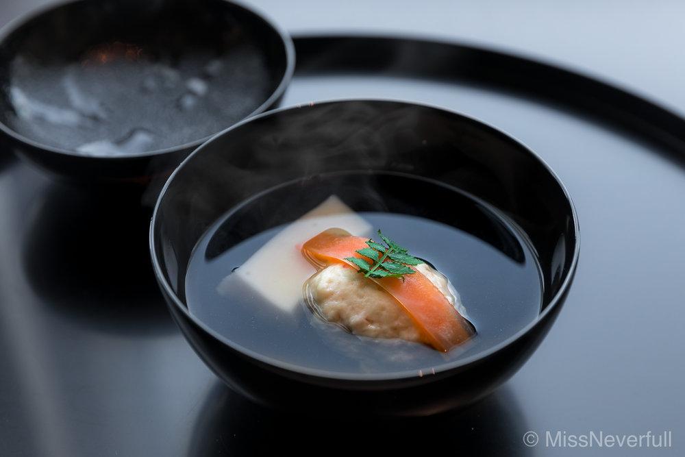 2. 海老真薯,銀杏豆腐| Ebi shinjo, Ginna tofu
