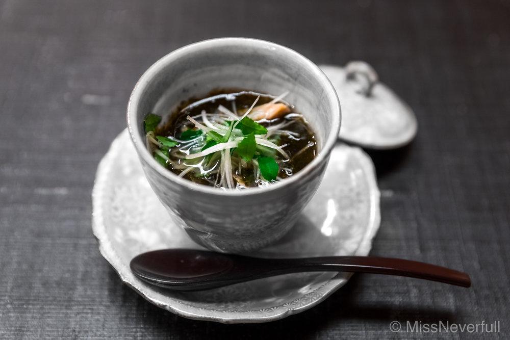 1. Hamaguri, seaweed