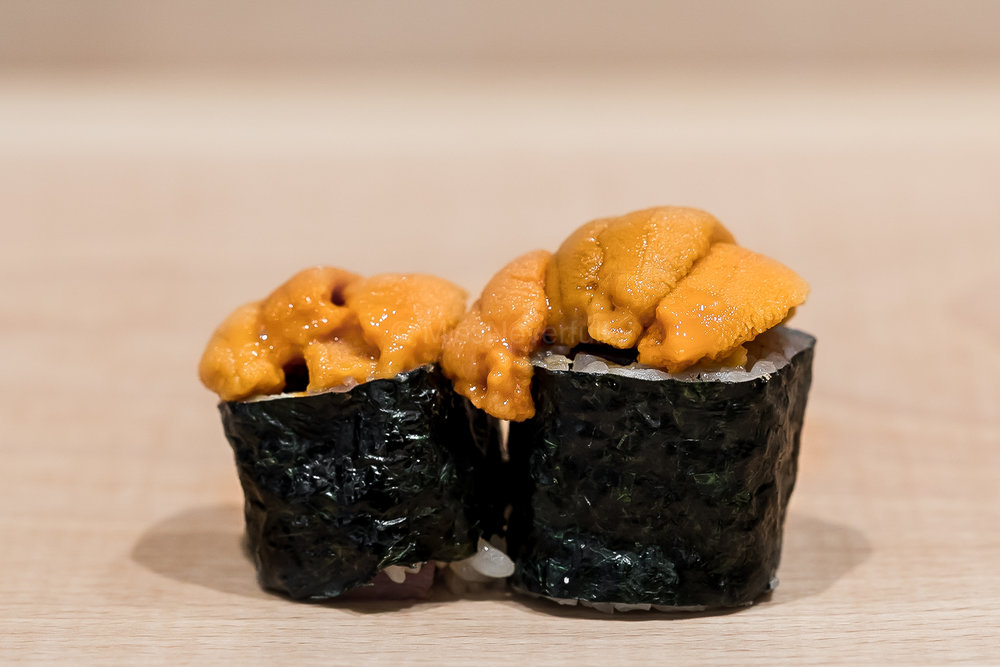 10. Toro maki topped with uni