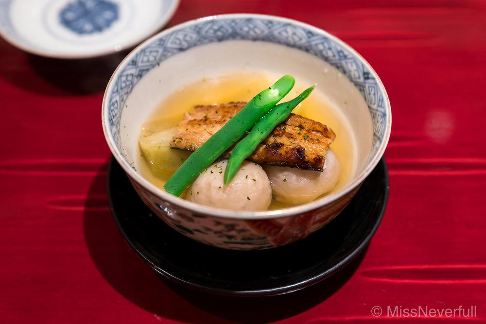 7. 明石のアナゴ、賀茂茄子、里芋