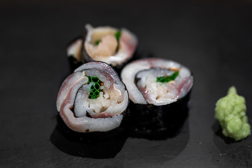 Off-menu Kohada roll (equally outstanding as the kohada nigiri)