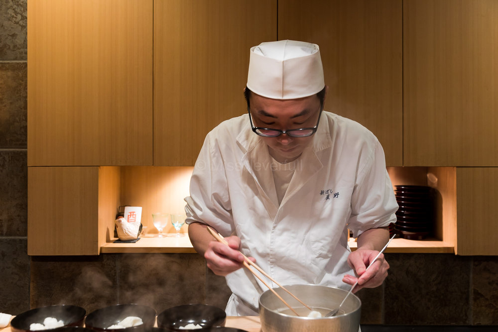 Chef-owner Hoshino-san, despite at a very young age, he is considered Kyoaji's best disciple