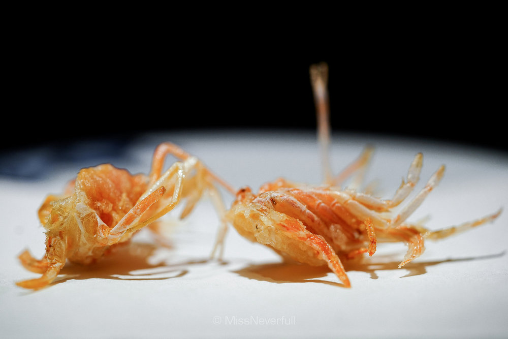 1.海老の頭  Prawn's head    (2pcs)