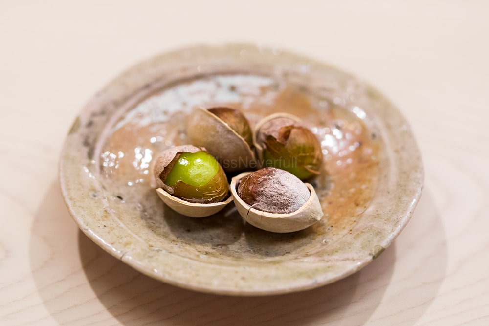 1. Grilled gingko nuts