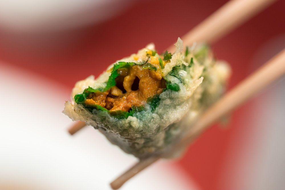 10. Uni rolled with shiso