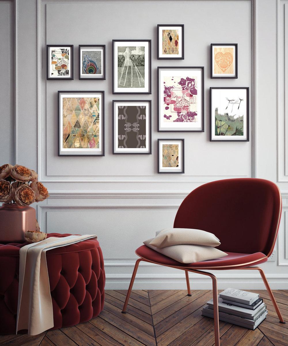 Stylish Gallery Wall