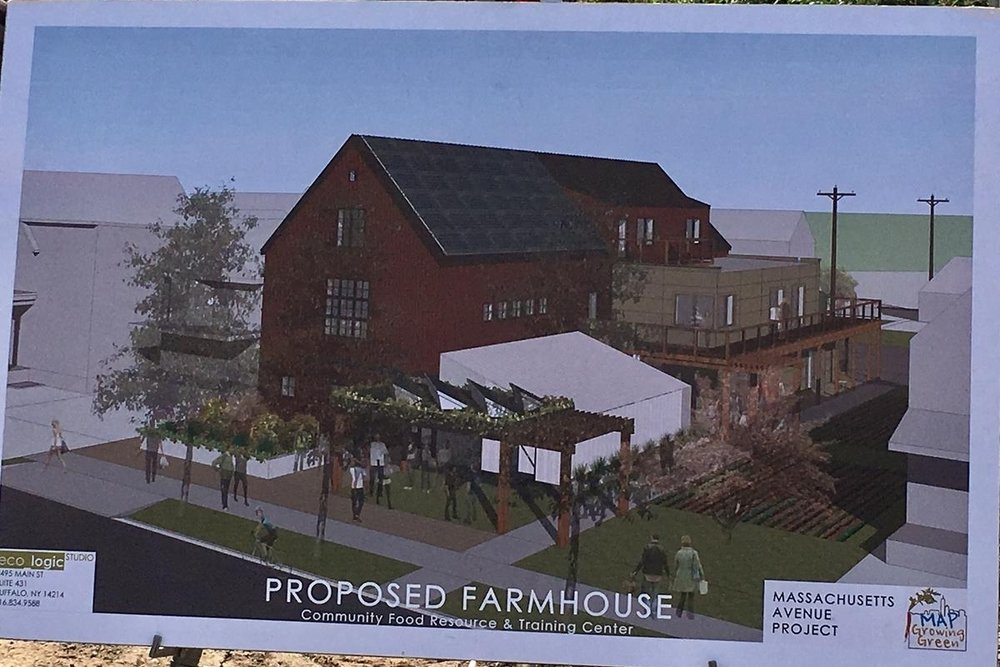 The federal grant will help support programs at MAP's Farmhouse, currently under construction, at 389 Massachusetts Ave., in Buffalo. CREDIT CHRIS CAYA WBFO NEWS
