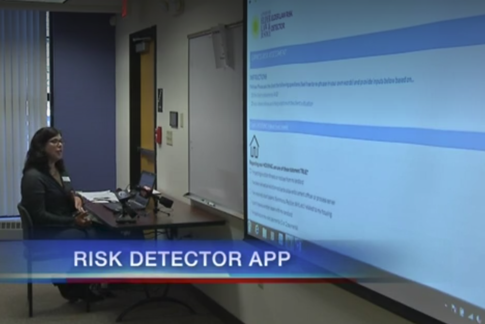 Dozens of providers and advocates spent Monday morning at the United Way building learning how to use the new Legal Risk Detector App. (WIVB.com)