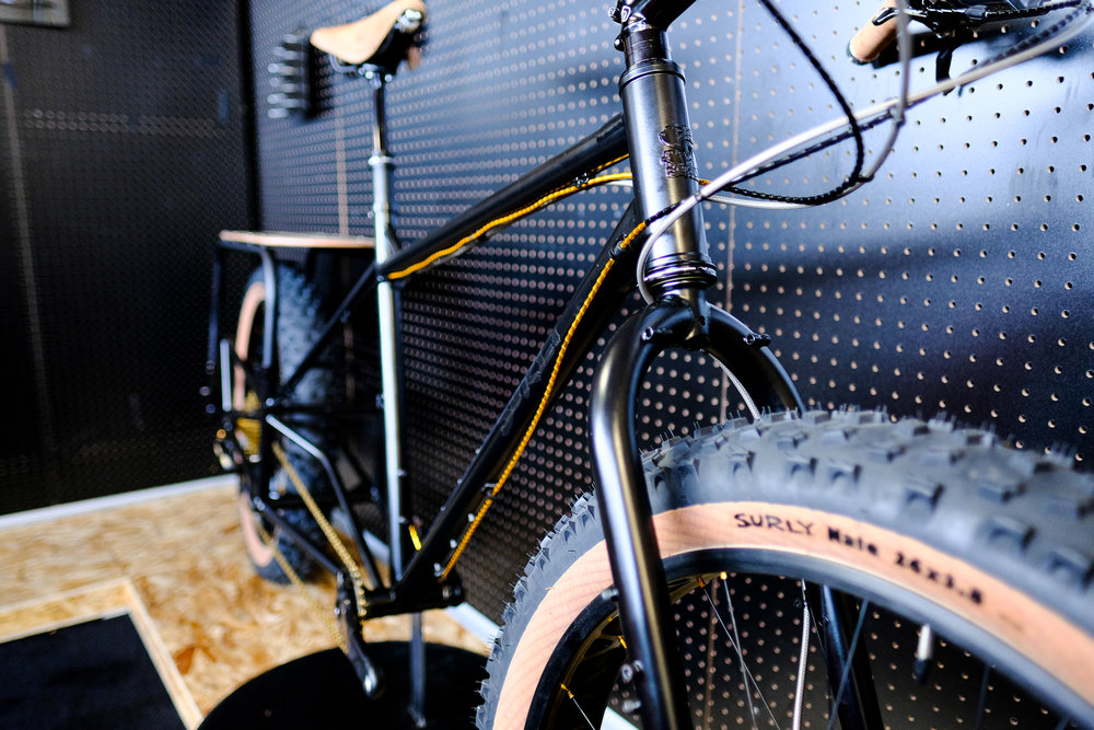 If you're going to build a show bike, always cover it with gold!