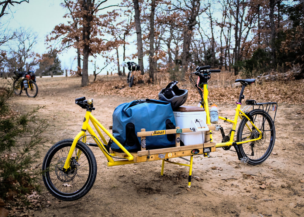 "Keith Reed's Custom Scissortail Cycles cargo bike, the ""Jos Express"""