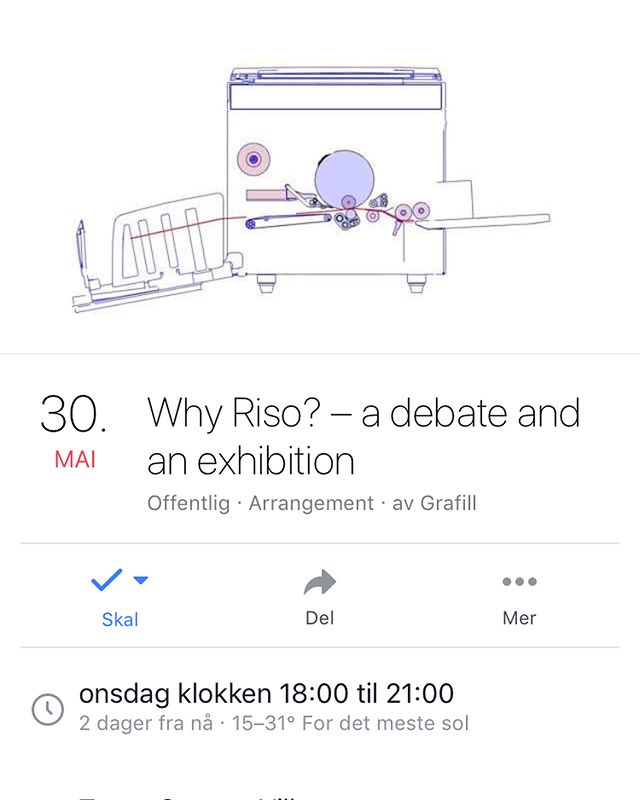 Upcoming Norway tour: May30~Why Riso? panel and discussion at @toyenstartupvillage with @grafill_  May31—June2~Fanzine workshop and part of Bastard Art Book Fair in Lillehammer organized by @opplandkunstsenter  June 5~Self-publishing = self-impowerment, panel organized by @grafill_stavanger and @kunsthall_stavanger  Also: @risoforeningen @endlesseditions @undsowalter @hverdagbooks