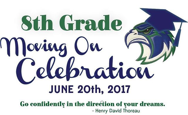8th Grade- it's getting closer! #falconproud #movingon #highschoolbound
