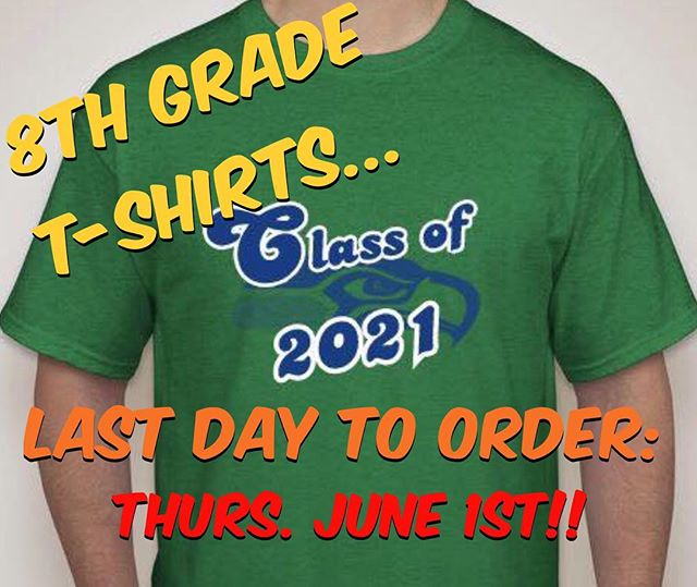 8th Grade - get your moving on shirts! Last day to order is Thursday! $16 each order online at www.booster.com/HRMS8th