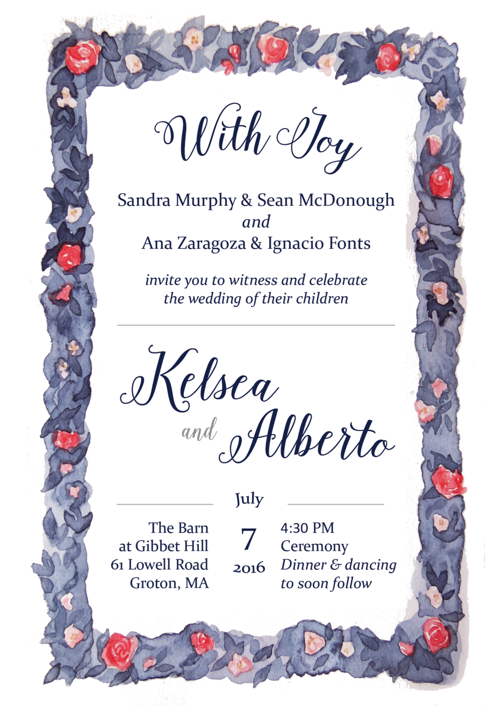 Kelsea & Alberto Wedding Invitation