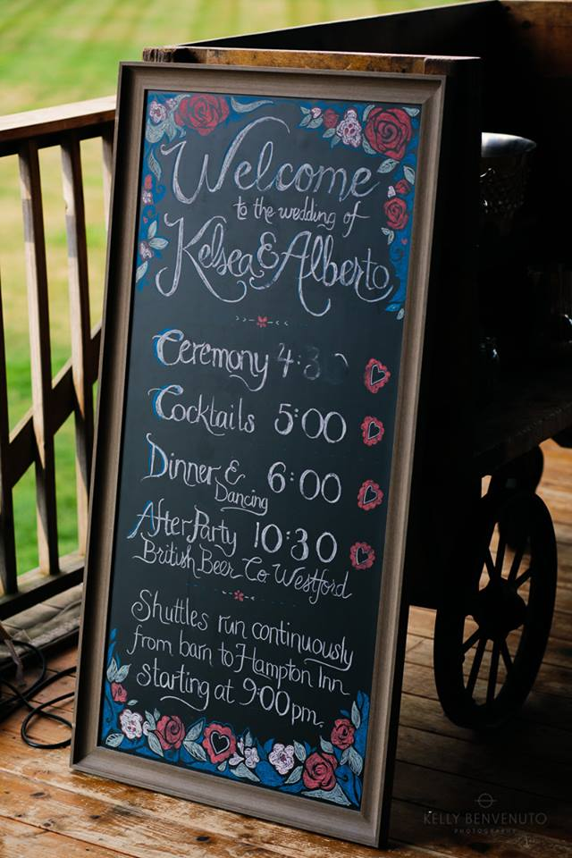 Wedding Schedule Chalkboard