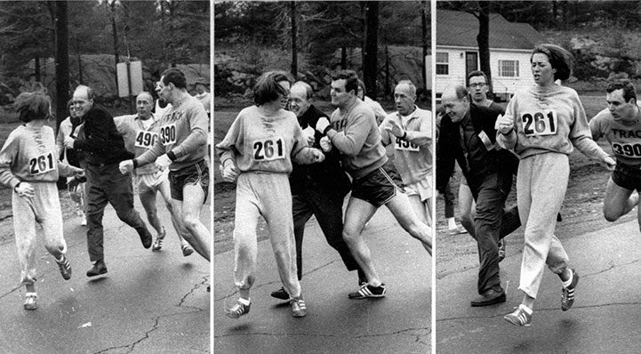 Photos originally by Harry Trask of Boston Traveer. Credit AP Images