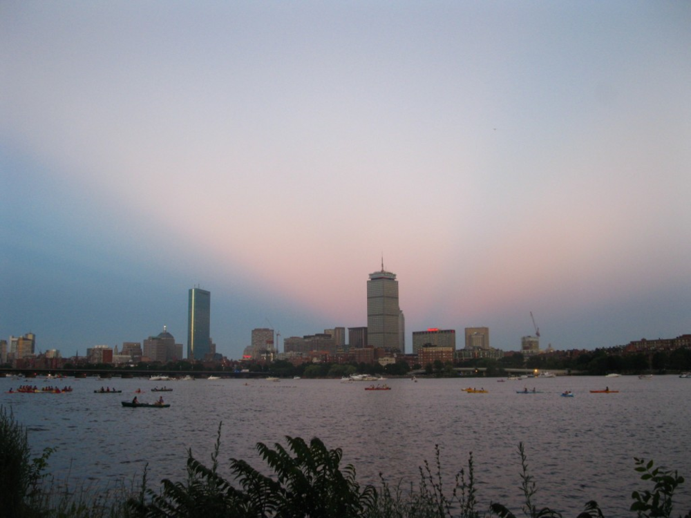 View of Boston & the Charles from MIT. An old shot from the 4th of July, 2013