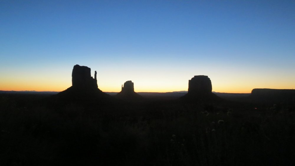 As dawn broke, in Monument Valley, Navajo Country.
