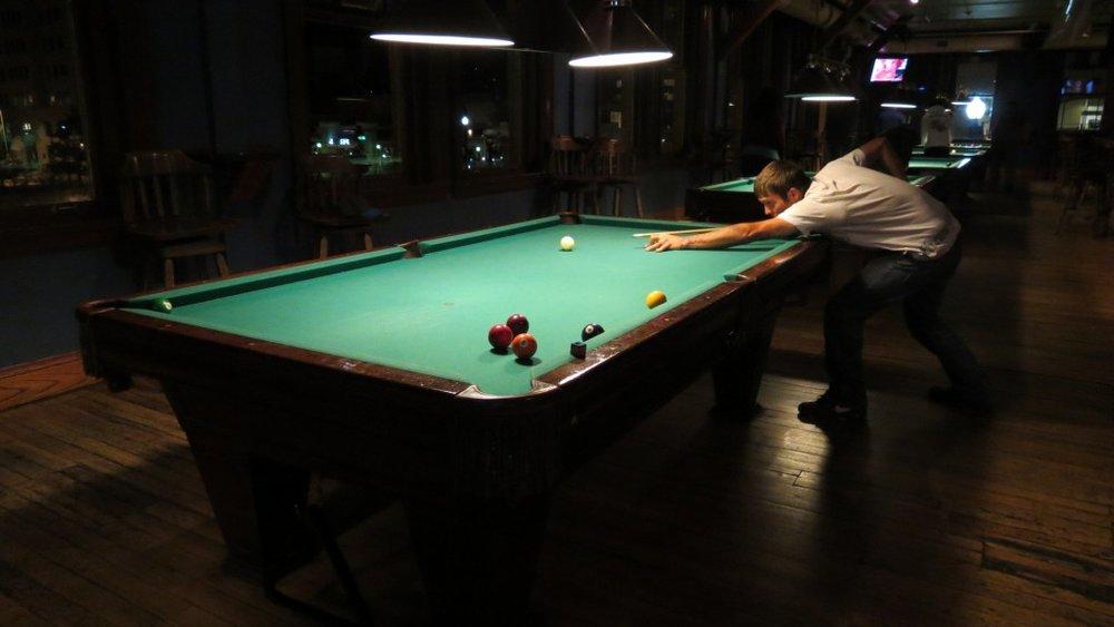 For the pool shark John, who asked for me to photograph him playing but didn't have an email address.