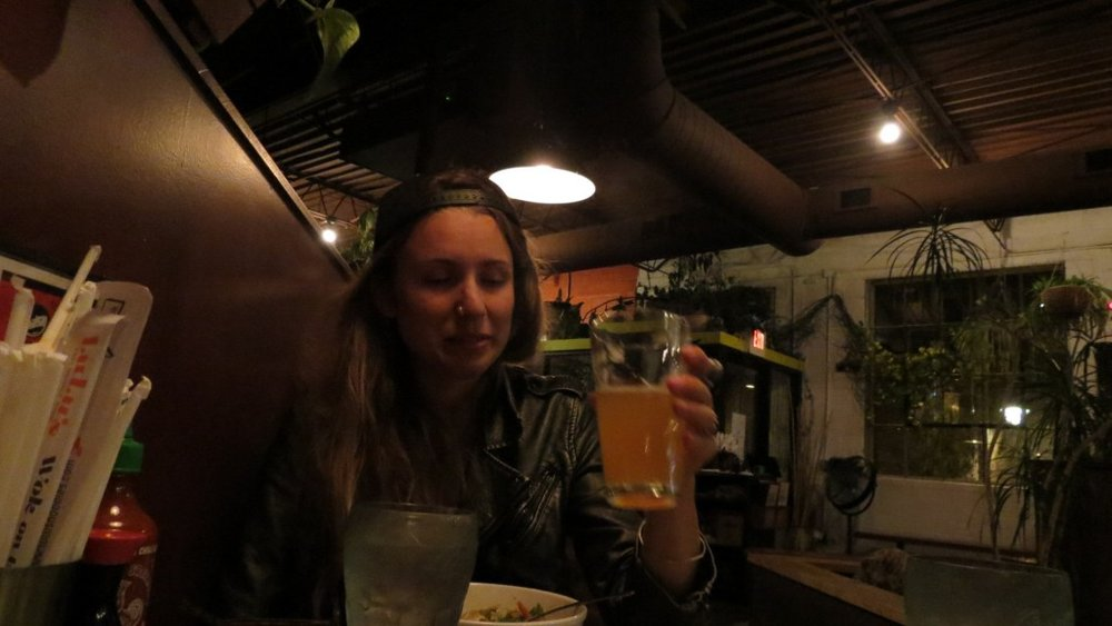 Totally wiped and loving the local Boulevard craft beer. At this point my hair had meshed into a giant dread-knot and I had to wear a hat 24/7. It took 7 little hotel bottles of conditioner to comb out.