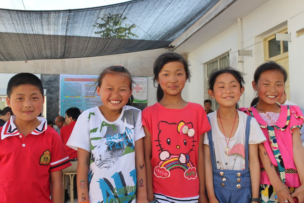 Kevin Xia - Children who received school trainings and participated in simulation drills, Gongchuan Village, Gansu Province.-Shaanxi and Gansu CBDRR Project.